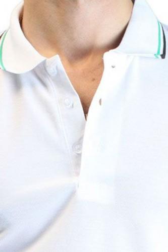 Polo blanc manches courtes