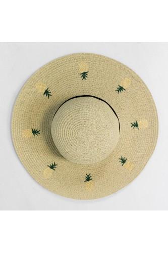 Chapeau capeline effet paille