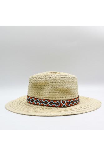 Chapeau fedora effet paille
