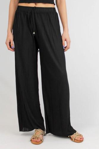 Pantalon plissé fluide, en coton