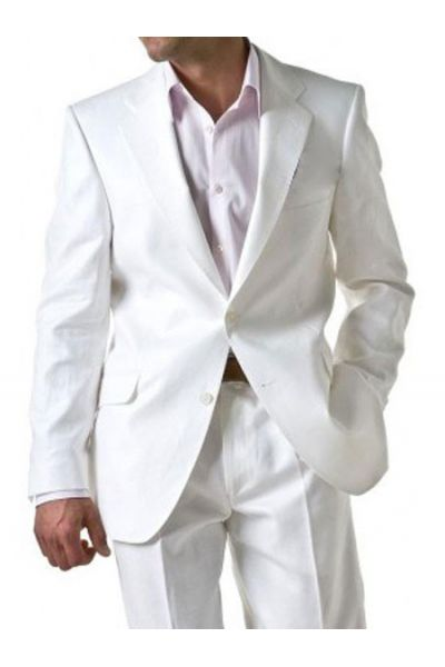 costume pour homme en lin blanc costume blanc kebello. Black Bedroom Furniture Sets. Home Design Ideas
