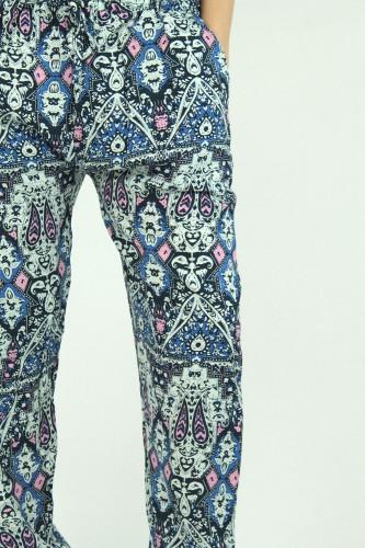 Pantalon fluide, en coton