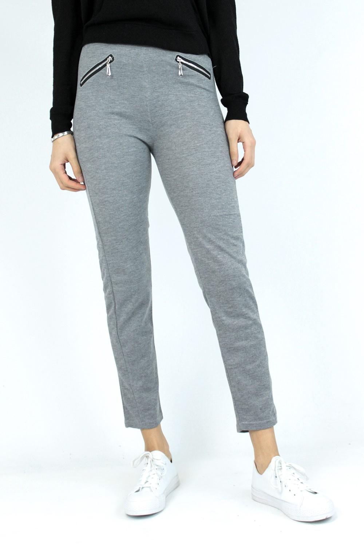 Jogging poches zippées gris