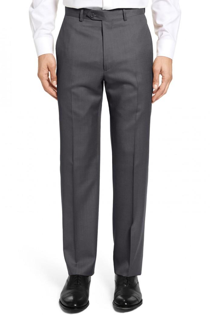 Pantalon en polyviscose gris anthracite