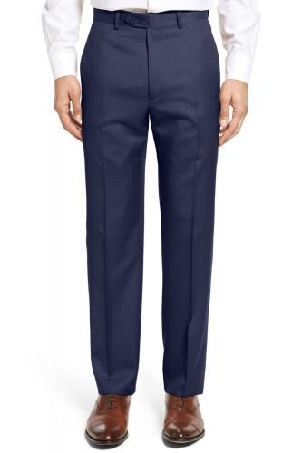 Pantalon en polyviscose bleu marine