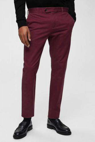 Pantalon en polyviscose bordeaux