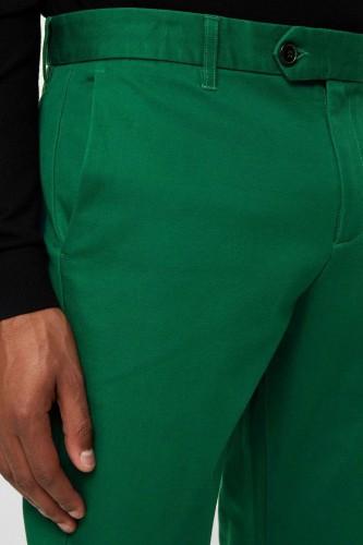 Pantalon en polyviscose vert
