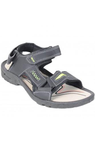Sandales à scratch noir