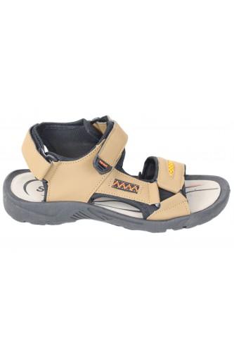 Sandales à scratch beige