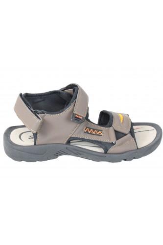 Sandales à scratch marron