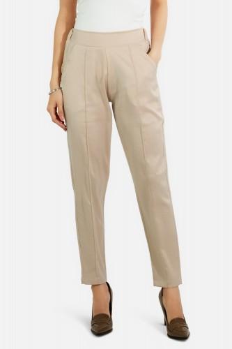 Pantalon droit satiné