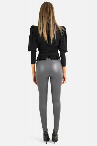 Leggings brillant en simili