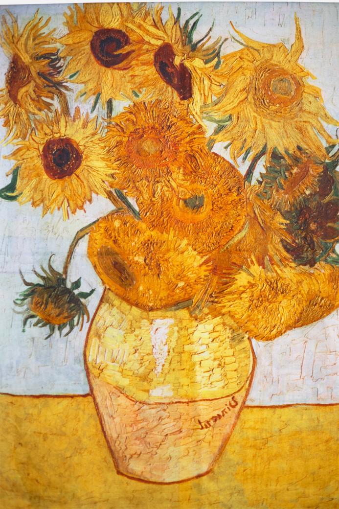 "Echarpe ""Tournesol"" Van Gogh"