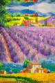 "Echarpe ""Lavande"" Monet"