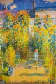 """Echarpe """"Jardin de Vétheuil"""" Monet"""