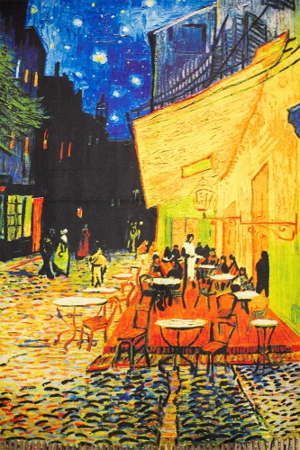"Echarpe ""Terrase du café le soir"" Van Gogh"