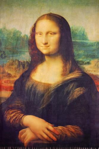 """Echarpe """"La joconde"""" Léonardo Di Vinci"""