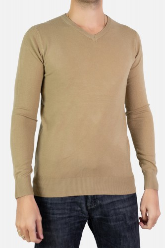 Pull manches longues col V