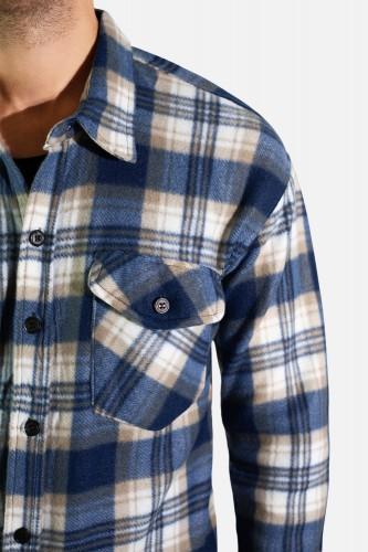 Chemise polaire à carreaux