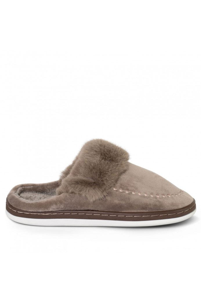 Chaussons mules fausse-fourrure