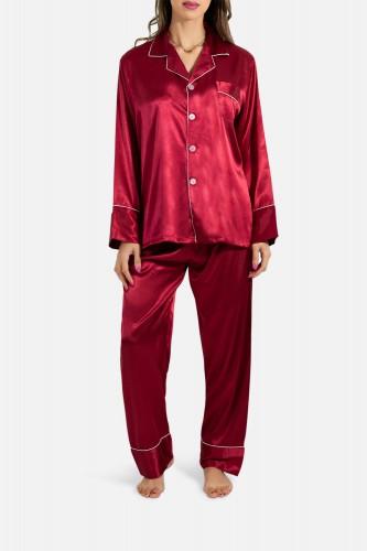 Pyjama fluide en satin