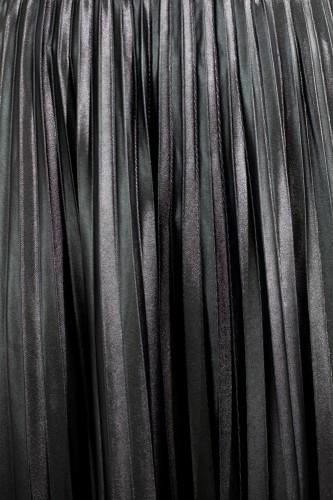 Jupe longue plissée en simili