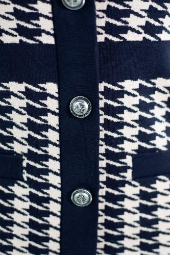 Robe pull à motifs