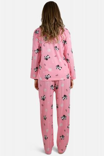 Pyjama à motifs manches longues