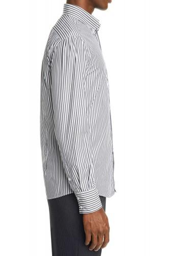Chemise à rayures gris