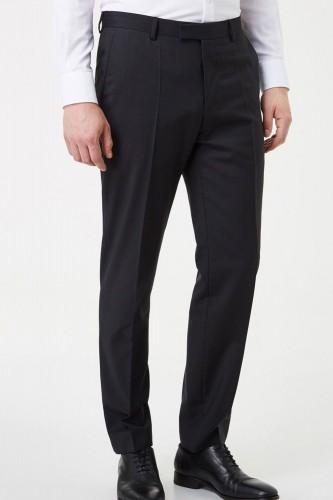 Pantalon noir en polyester