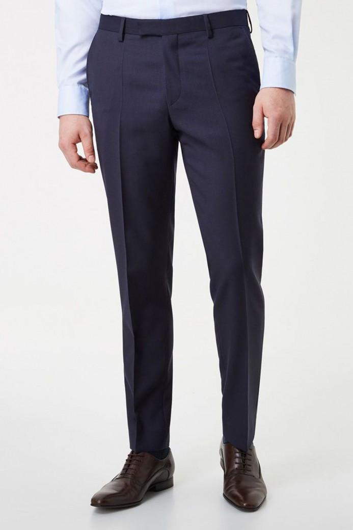 Pantalon marine en polyester