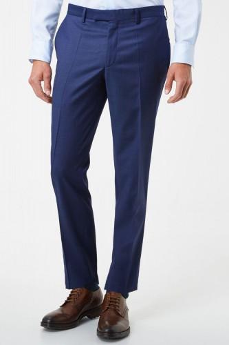 Pantalon bleu en polyester