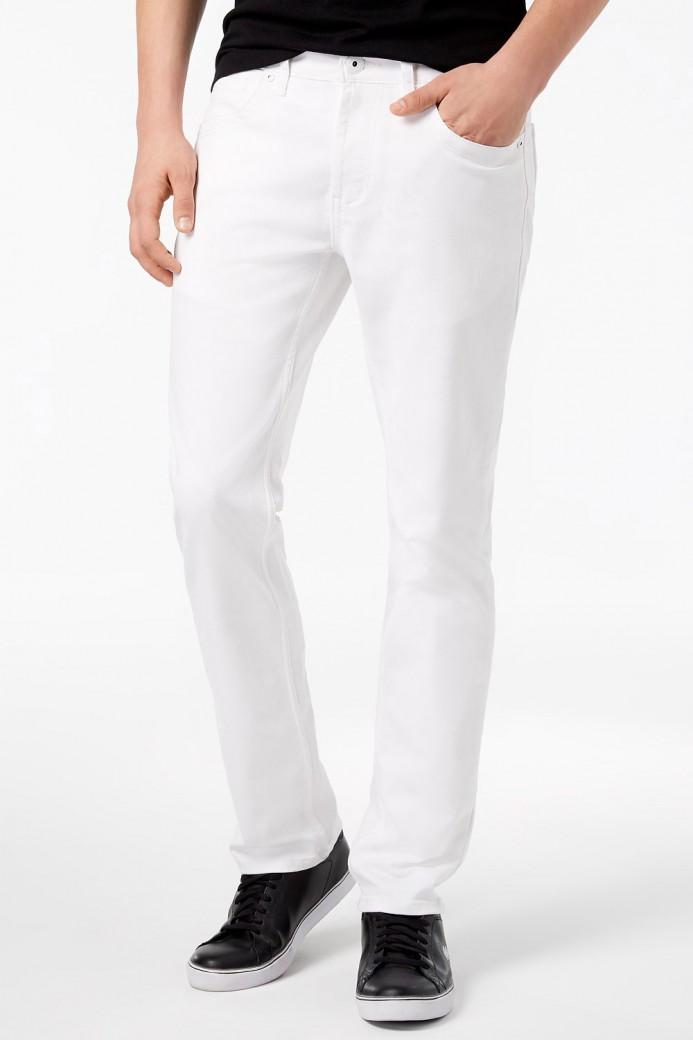 Jeans blanc pour homme coupe regular