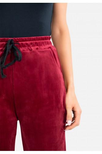 Pantalon jogging en velours
