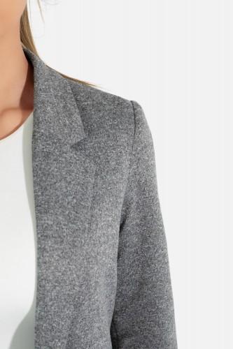 Manteau long coupe droite