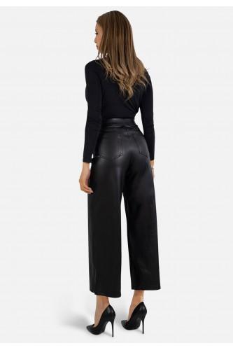 Pantalon loose en simili