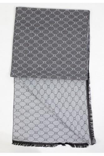 Echarpe en coton reversible