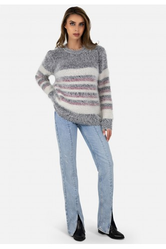 Pull col rond en maille
