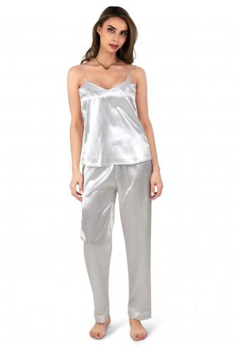 Pyjama fines bretelles en satin