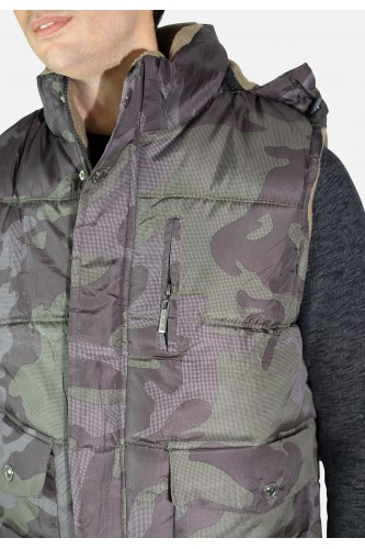 Doudoune sans manche camouflage