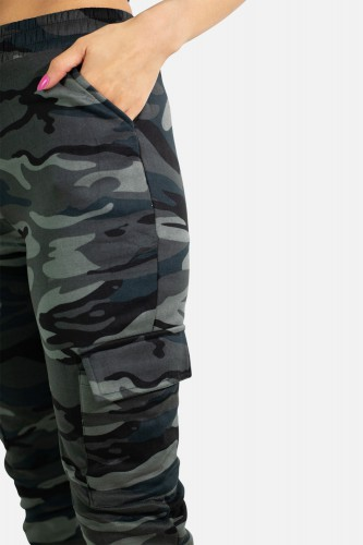 Jogging cargo camouflage de sport
