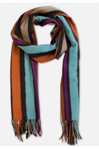 Echarpe en laine à rayé