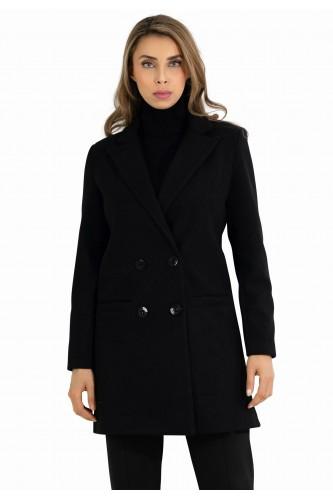 Manteau croisé double boutonnage