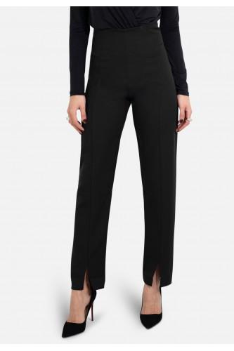 Pantalon taille haute droit