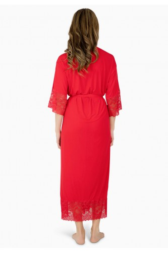 Kimono long en dentelle