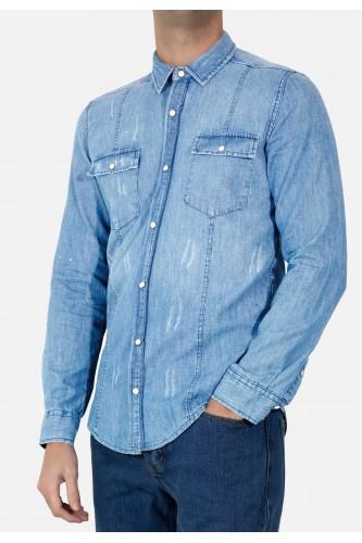 Chemise en jeans slim fit