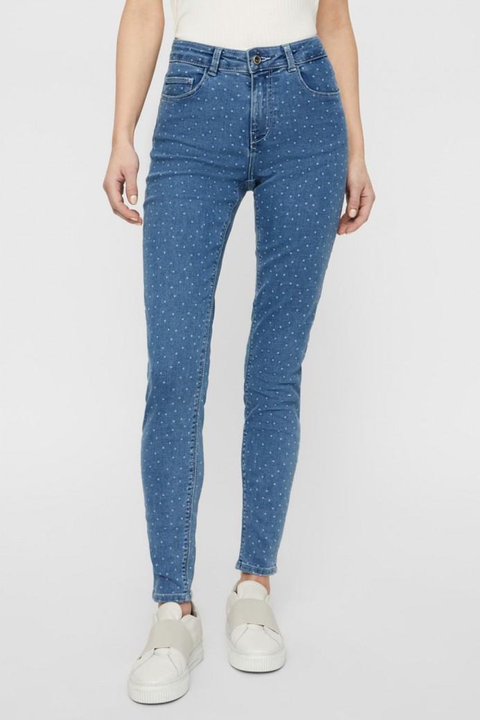 Jeans skinny à points