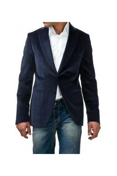 veste pour homme bleu en velours de la marque kebello. Black Bedroom Furniture Sets. Home Design Ideas