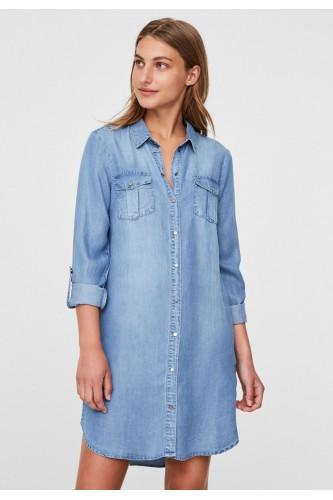 Robe courte en jeans