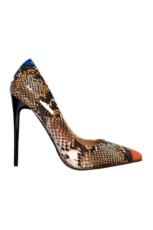 Escarpins motifs serpent